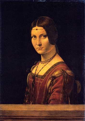 Kadın Portresi (La Belle Ferroniére), 1490