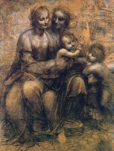Leonardo Da Vinci Burlington House Cartoon (Mary, Christ, St. Anne and the Infant St. John) 1499