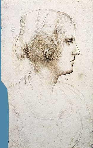 Genç Bir Kadının Baş Profili Etüdü, 1511