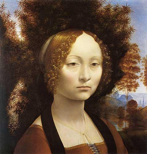 Leonardo Da Vinci Ginevra de Benci'nin Portresi
