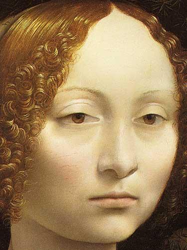 eonardo Da Vinci Ginevra deBenci'nin Portresi Detay