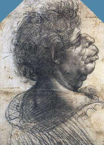 Leonardo Da Vinci Leonardo Da Vinci Resimleri Grotesk Erkek Başı Etüdü 1500-1505