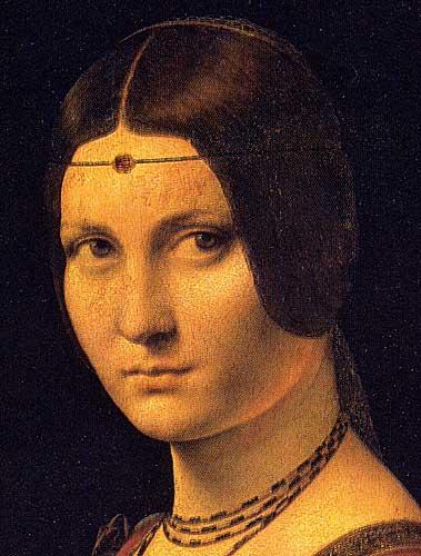 Kadın Portresi (La Belle Ferroniére), 1490 Detay