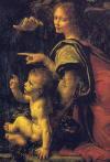 Kayalıkların Meryem'i (Meryem ve İsa, bebek Aziz John ve bir melek), 1483-1486 Detay