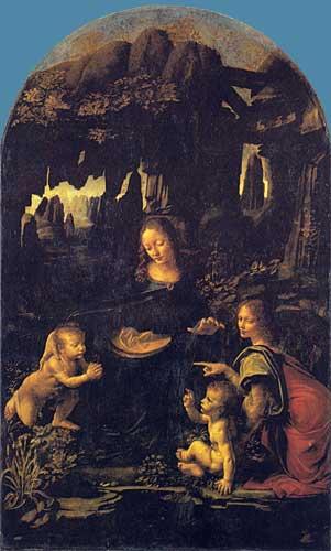 Kayalıkların Meryem'i (Meryem ve İsa, bebek Aziz John ve bir melek), 1483-1486