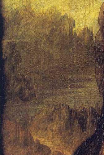 Lisa del Giocondo'nun Portresi Mona Lisa Arka Plan Detay, 1503-1506 Detay 4