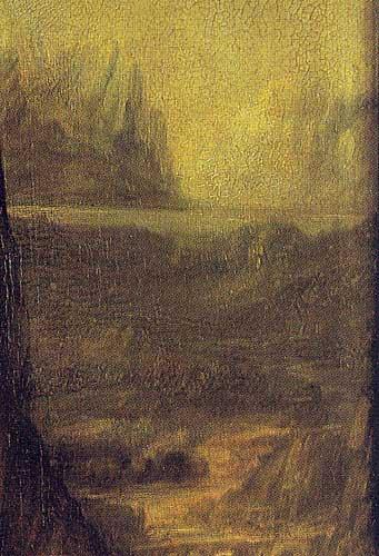 Lisa del Giocondo'nun Portresi Mona Lisa büyük boy detay, 1503-1506 Detay 3