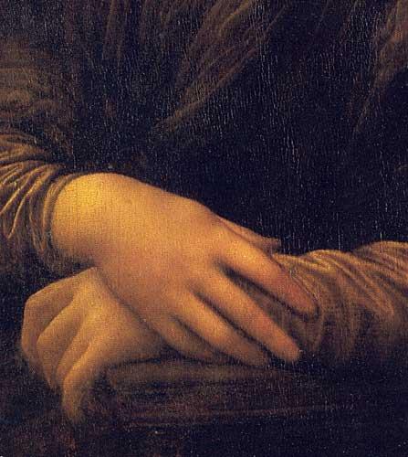 Lisa del Giocondo'nun Portresi (Mona Lisa Lisanın Tablosu), 1503-1506 Detay
