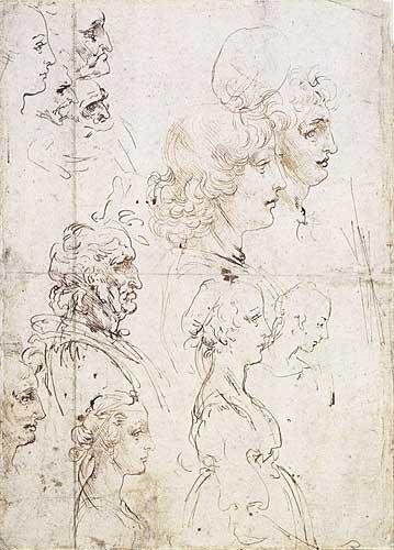 Profilden Baş Etüdleri, 1478-1480