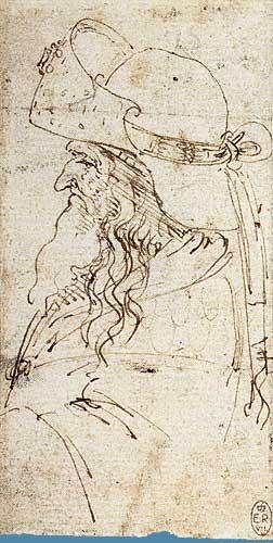 Şapkalı Yaşlı Erkek Profili, 1472