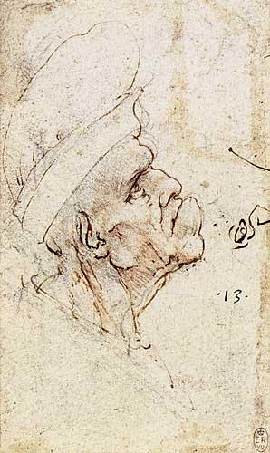 Şapkalı bir erkeğin grotesk başı