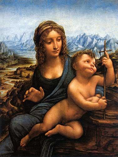 Leonardo Da Vinci Madonna of the Yarnwinder, 1501