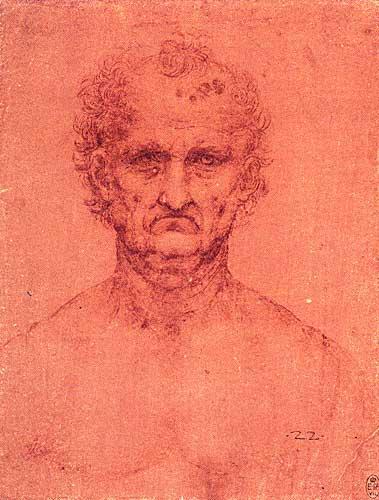 Leonardo Da Vinci Yaşlıca Bir Erkeğin Başı ve Omuzları, 1510-1515