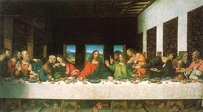 İsa'nın Son Akşam Yemeği adlı yapıtının kopyası