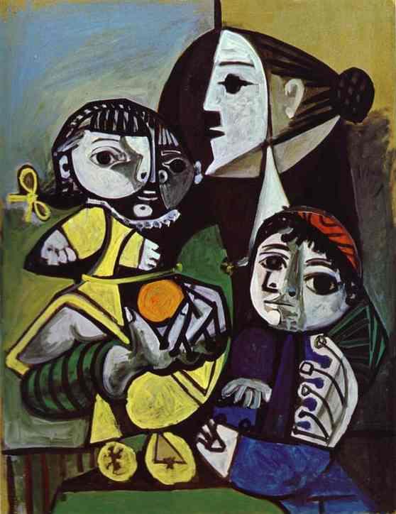 Pablo Picasso - Françoise Claude and Paloma