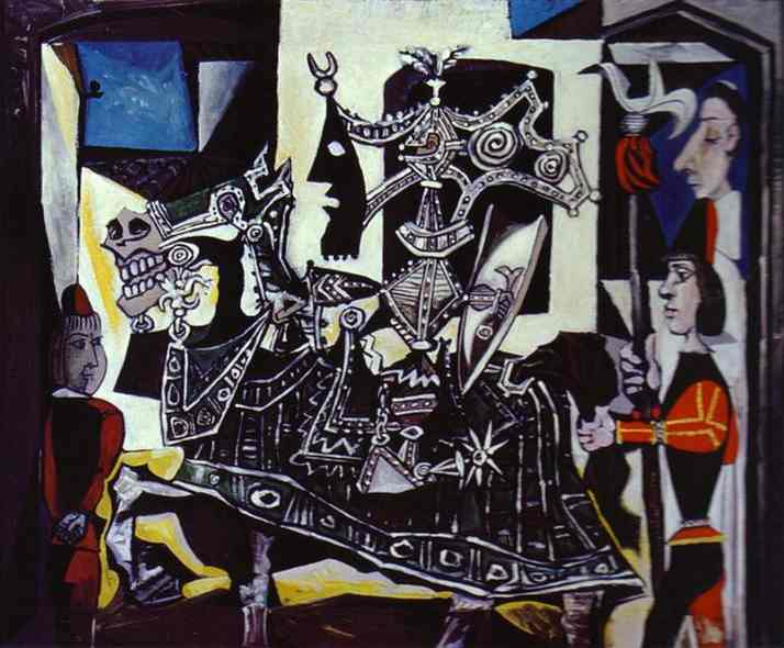 Pablo Picasso - Knight, Page and Monk