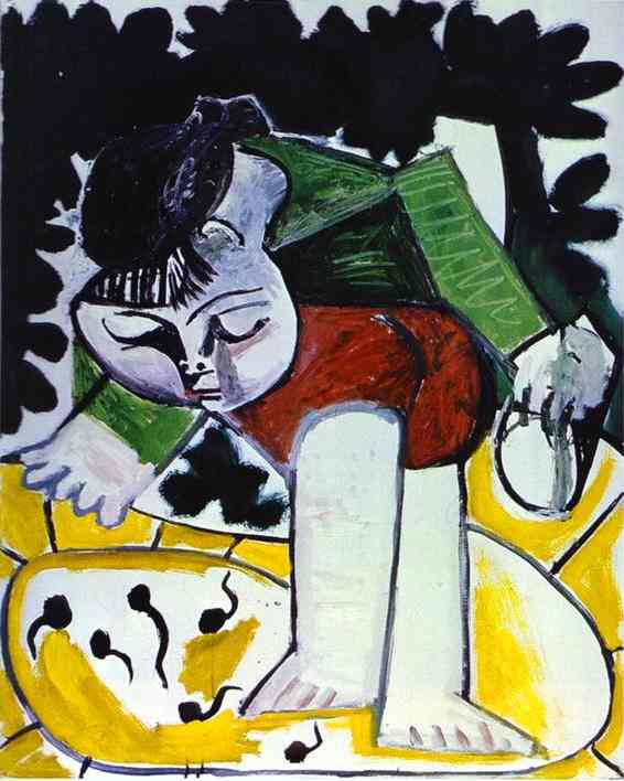 Pablo Picasso - Paloma playing with Tadpoles 1954