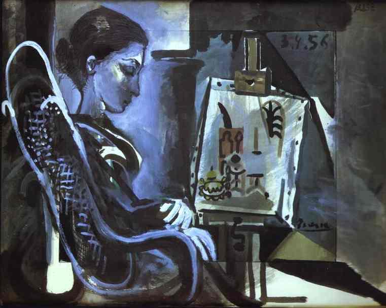 Pablo Picasso - Jacqueline in Studio 1957