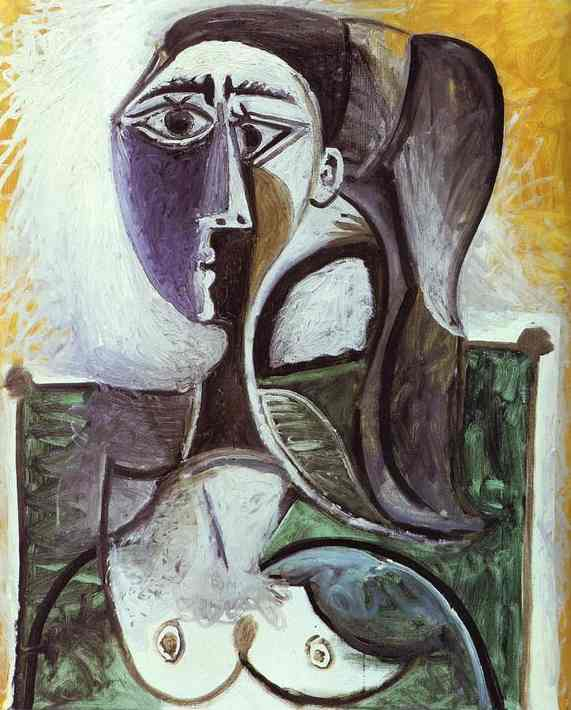 Pablo Picasso - Portrait of a Sitting Woman