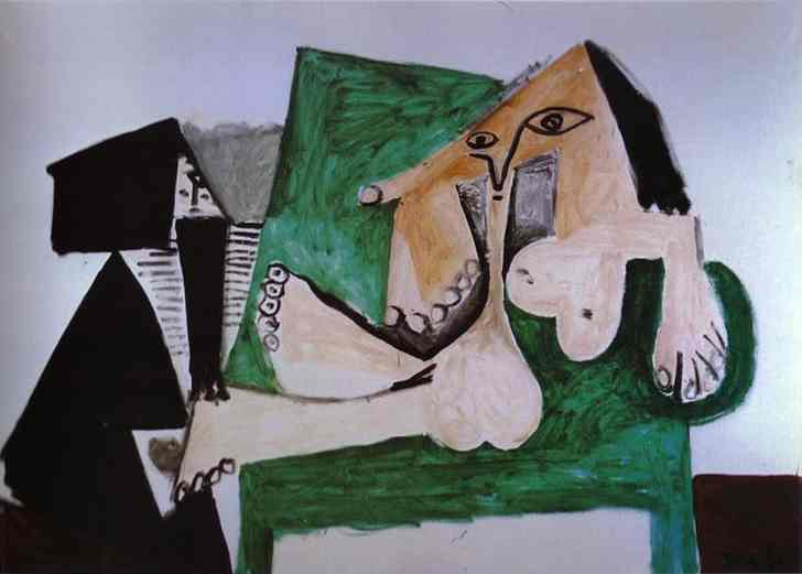 Pablo Picasso - nu Queen of the Amazons with Servant - 1960