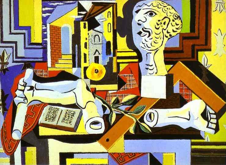Pablo Picasso - Studio with Plaster Head, 1925