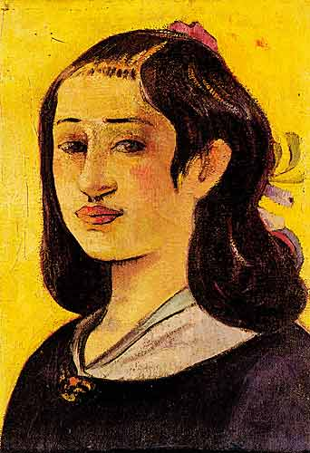 Paul Gauguin 17 Portrait of the Artists Mother, 1890