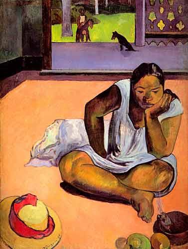 Paul Gauguin 20 Te Faaturama (The Brooding Woman), 1891