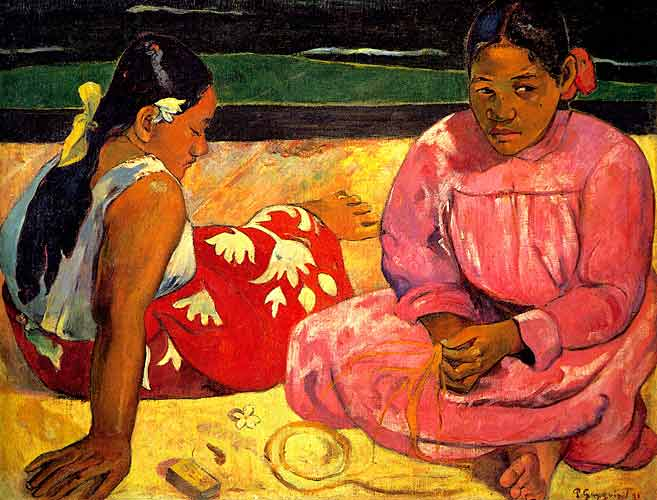 Paul Gauguin 22 Two Women on the Beach, 1891