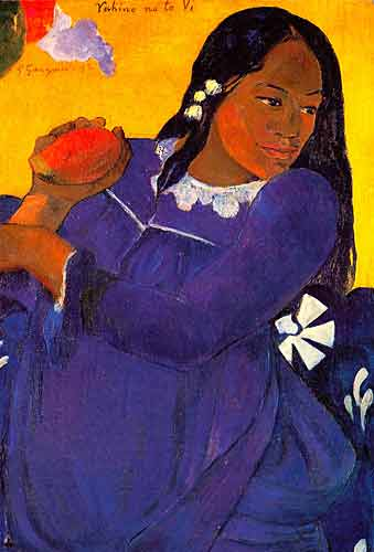 Paul Gauguin 24 Vahine No te Vi (Woman with Mango), 1892