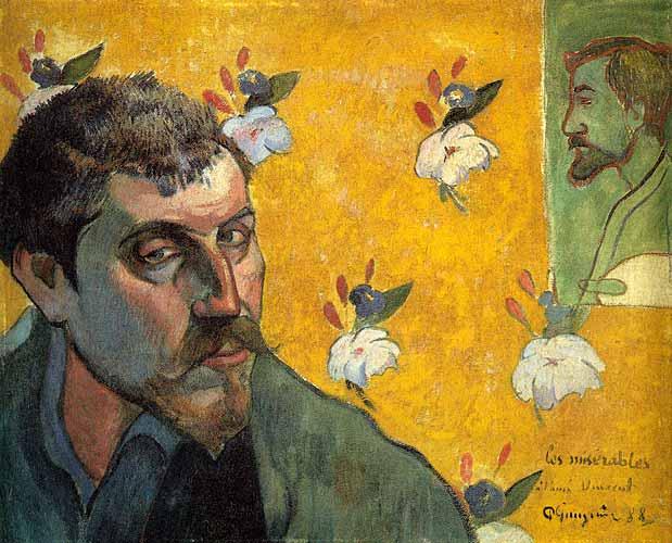 Paul Gauguin Self-Portrait Les Miserables, 1888