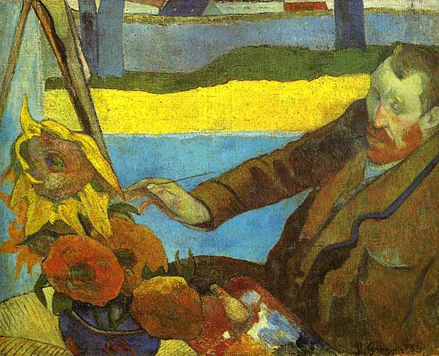 Paul Gauguin Van Gogh Painting Sunflowers, 1888