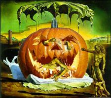 Pumpkin Head Dali for Dinner