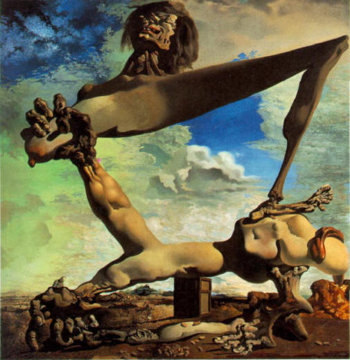 Soft Construction with Boiled Beans, Premonition of Civil War, 1936, Dali