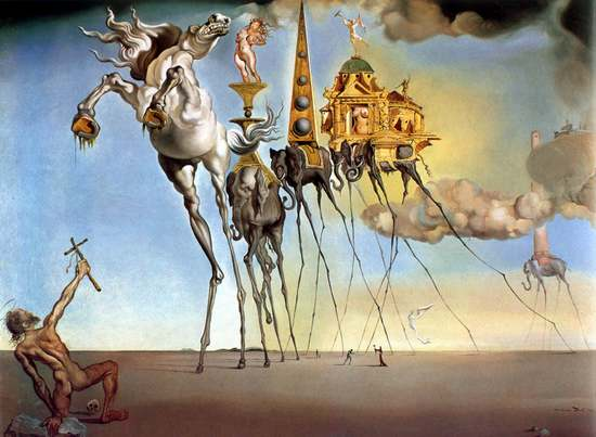 Temptation of St Anthony Salvador Dali