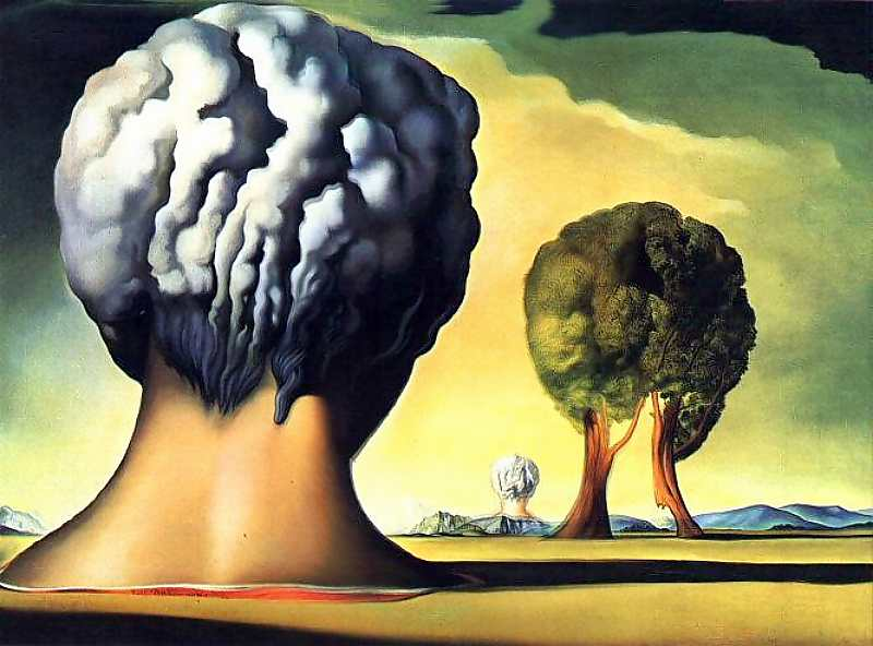 The Three Sphinxes of Bikini - Ağaç sfenksler, sfenksleri Salvador Dali