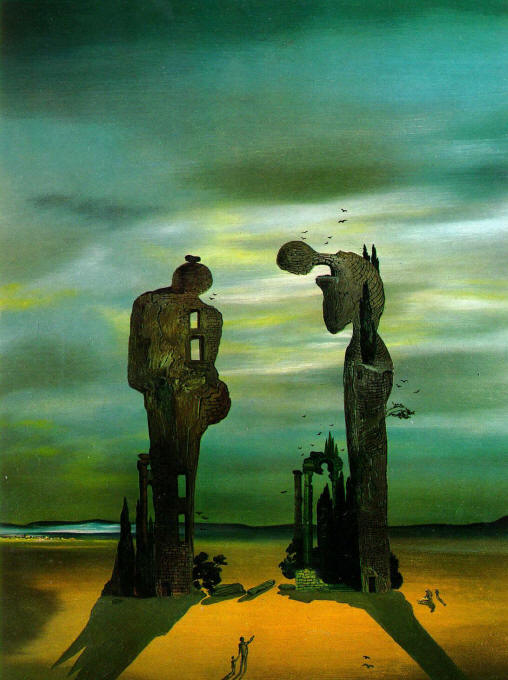 Archeological Reminiscence of Millet's Angelus 1933 1935 Salvador Dali