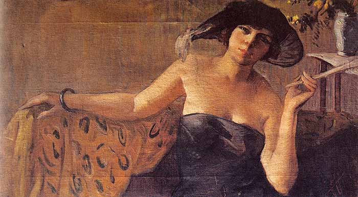 İbrahim Çallı Salah Cimcoz Portresi