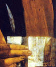 Leonardo Da Vinci Portrait of a Young Man Portrait of the Musician Franchino Gaffurio detail 2 1490